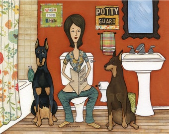 Potty Guard, art print
