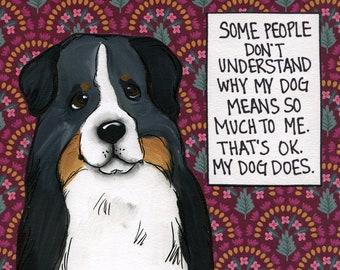 My Dog Does, dog art print