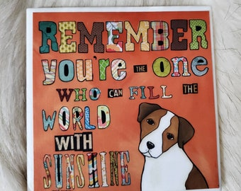 Remember coaster, Jack Russell dog