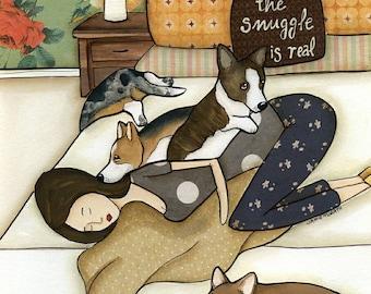 Snuggle is Real, art print
