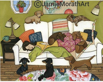 Couch Wieners, art print