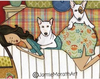 Bed Full of Bull, dog art print