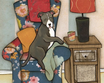 Spoiled Rotten Pit- original mixed media painting