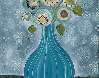 Snowball, flower art print