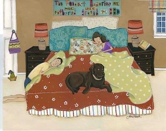 The Fondest Memories, chocolate Labrador retriever
