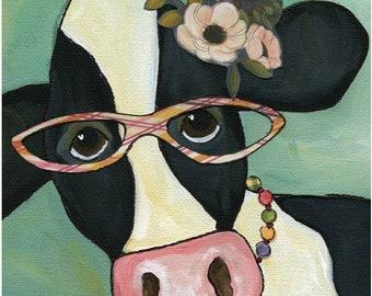 Cow Marlene, art print