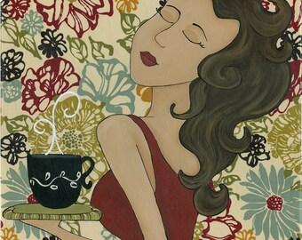 Good Morning Floral, art print