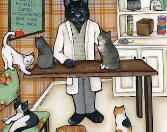 Good Veterinarian, cat art
