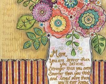 Mom, wall art print