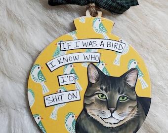 Cat handpainted ornament
