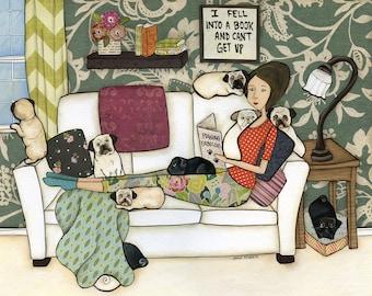 The Pug Book, art print