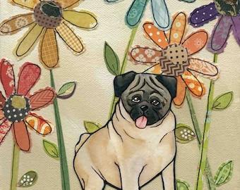 Pug, dog art print