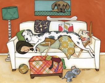 The Great Nap, art print
