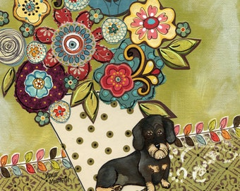 DISCOUNTED Doxie art print