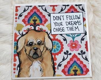 Chase Them coaster, Pekingese dog
