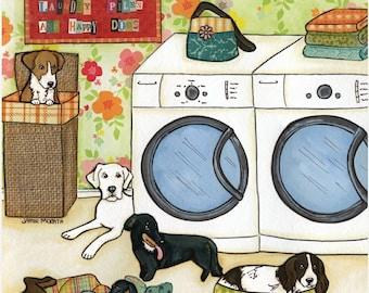Happy Dogs, art print