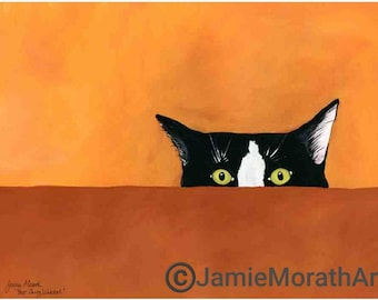 You're Being Watched, cat art print