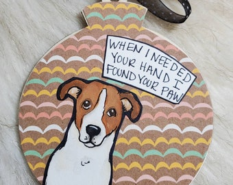 Jack Russell Terrier, handpainted dog ornament