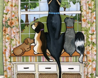 Doggie Watch, wall art print
