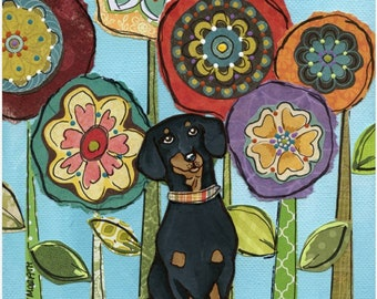 Weenie Love, dog art print