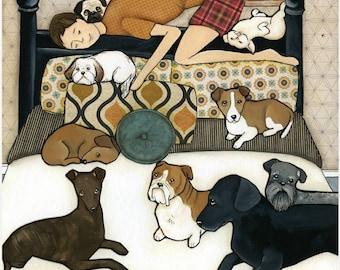 Our Hero, dog art print