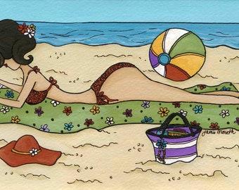 Star Gossip on the Beach, art print