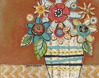 Mrs. Petals, flower wall art