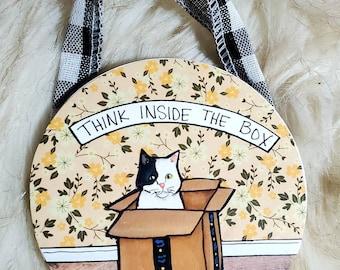 Inside the Box Cat ornament
