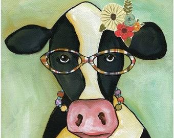 Cow Janice, art print