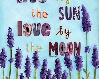 Sun and Moon, art print