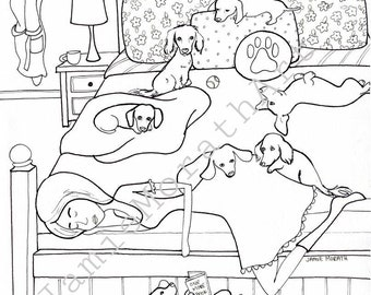 DIGITAL COLORING PAGES