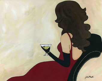Relaxing Martini, art print