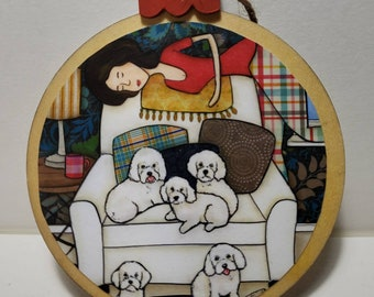 Bichon Bitchen ornament