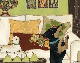 Dance Like No Ones Watching, dog art print