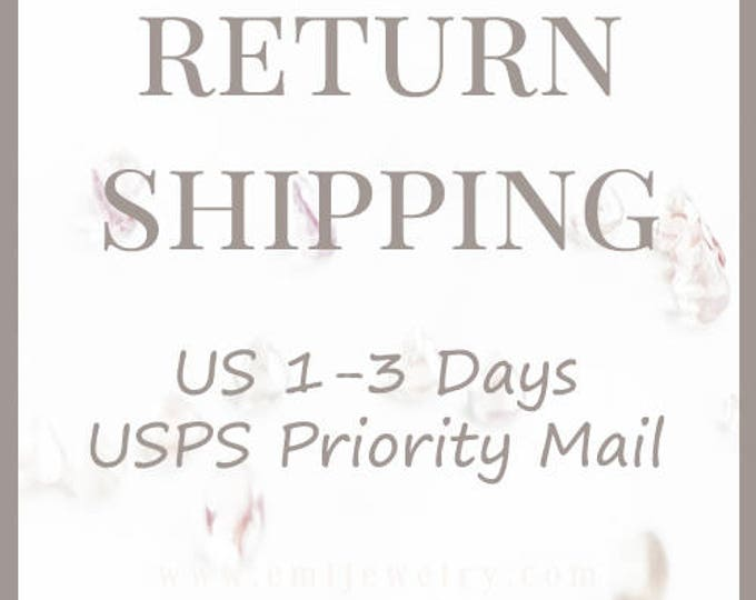 Return Shipping USPS Priority 1-3 business days with Tracking number and Insured US (US only)
