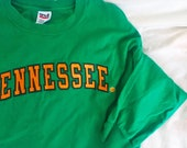 Cool Vintage Tennessee T Shirt Long Sleeve Green T Shirt University of Tennessee Titans Knoxville Nashville