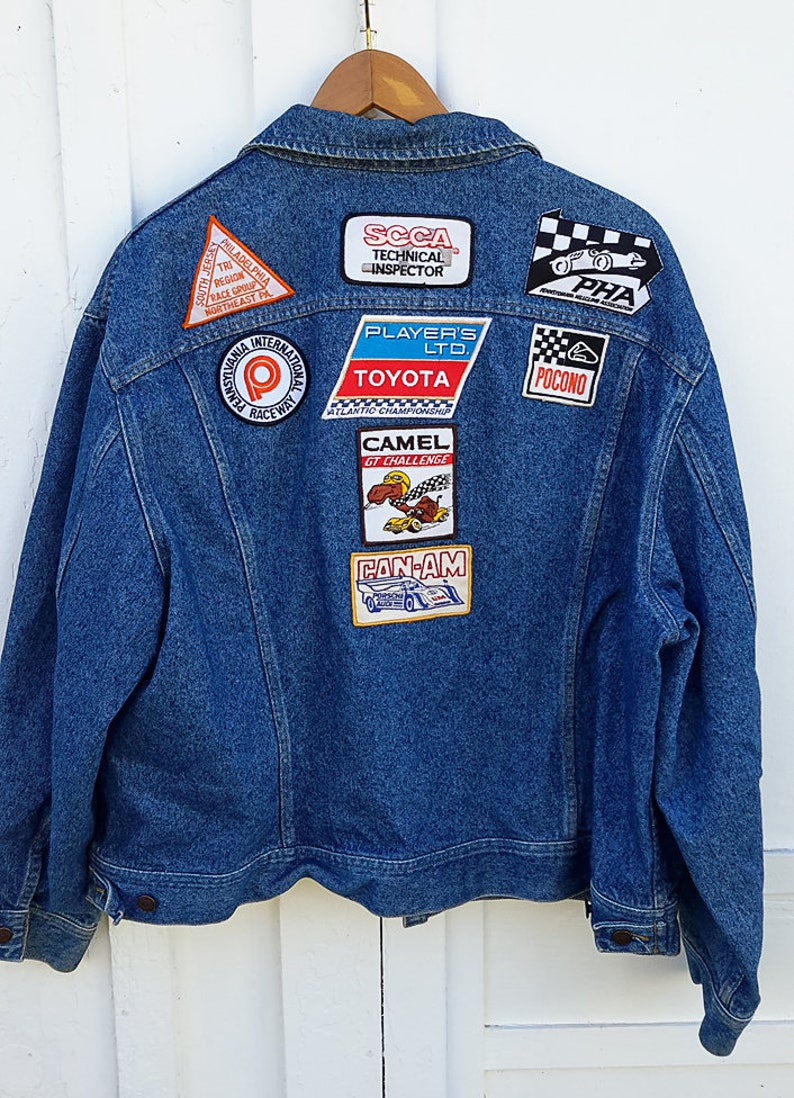 9fc182f1be9 90 s Patch Lee Jean Jacket Sports Car Race Car Patches
