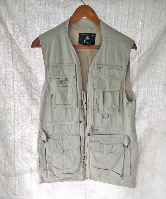 Vintage Orvis Fishing Vest Pockets Galore Cotton M