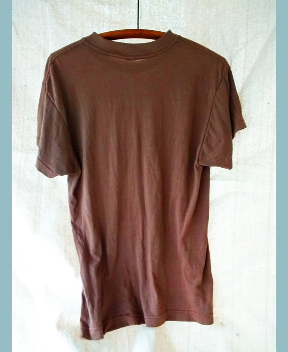 f39f405ea163 Vintage Faded Brown Military T Shirt Thin Poly US Army Surplus | Etsy