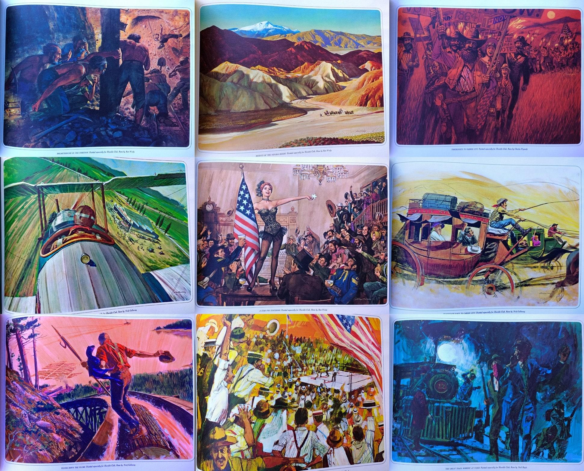 Nevada Salle De Bain nevada portfolio of paintings early 60s art prints mid century lithos art  book frameable prints historical old west art boxing logging reno