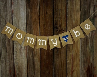 Baby Shower Banner MOMMY to BE, Burlap Baby Banner, Baby Shower Decoration, Baby Photo Prop, New Baby, Party Decoration
