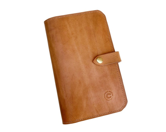 Featured listing image: Harper Leather Journal - With Phone & Card pocket