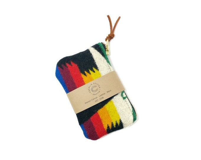 PNW Wool zipper card wallet - Tucson Black