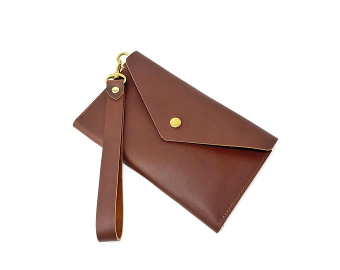 Hazel large oil tan leather wallet