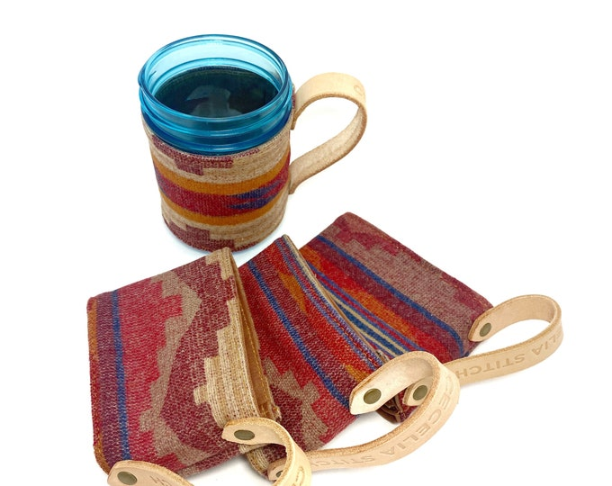 Pendleton Tea Cozy - 16 oz Wide mouthed mason jar