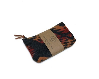 PNW Wool zipper card wallet