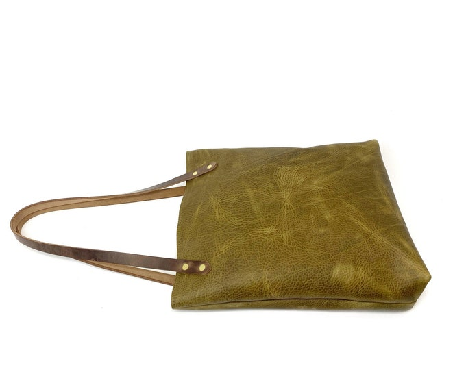KODIAK Oil Tan Leather Shoulder Bag - Olive Or Burgundy