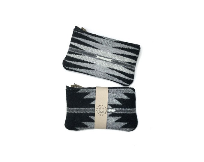 PNW Wool zipper card wallet - Falcon Cove