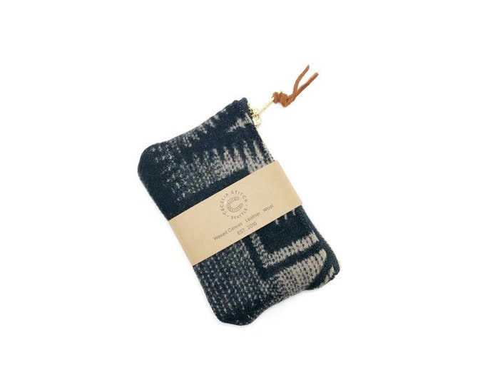 PNW Wool zipper card wallet - Harding Tonal