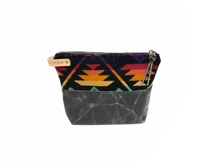 Wool and Waxed Toiletries bag - Rainbow